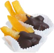 chocolate dipped orange peel